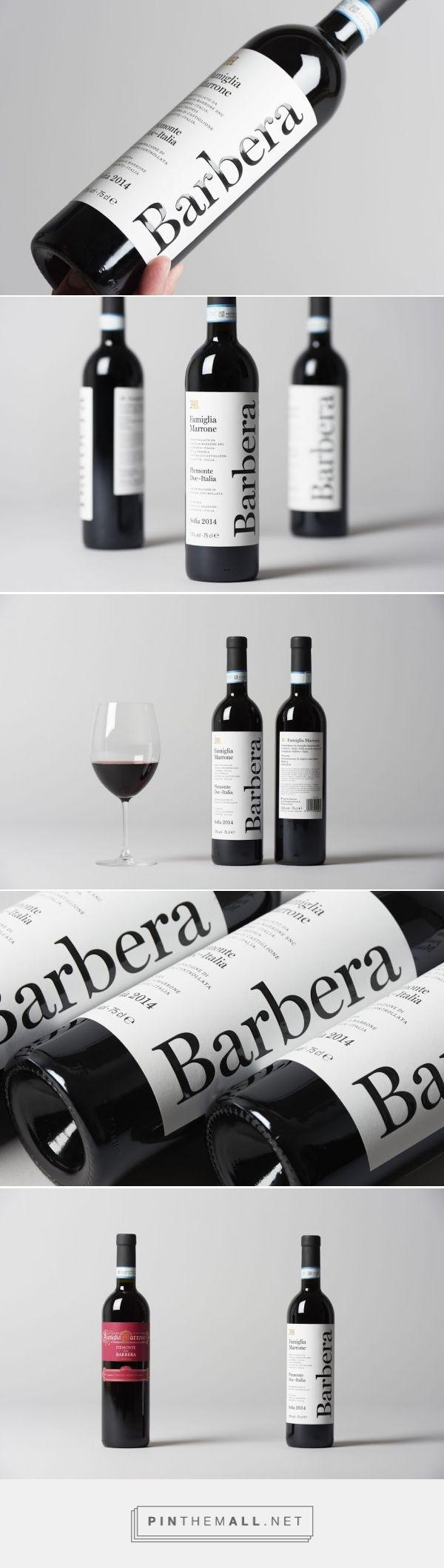 Barbera Marone Wine - Packaging of the World - Creative Package Design Gallery - http://www.packagingoftheworld.com/2016/05/barbera-marone.html