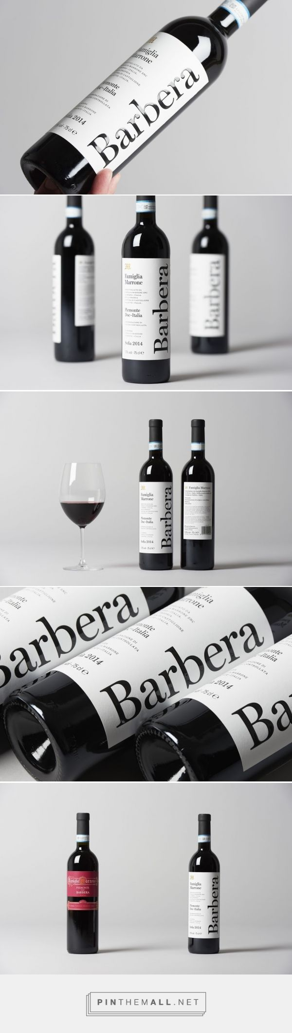 Barbera Marone Wine - Packaging of the World - Creative Package Design Gallery - http://www.packagingoftheworld.com/2016/05/barbera-marone.html