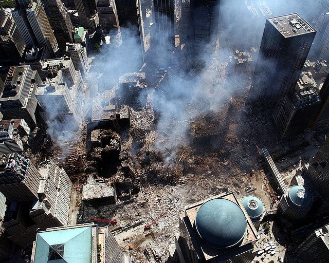 9/11 The aftermath  following the collapse of #WorldTradeCenter Twin Towers (Two of the 4 Targets of #911) Remembering and Honoring the Heroes of 9-11-2001