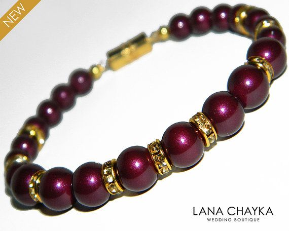 Blackberry Pearl Bracelet Swarovski Blackberry Pearl by LanaChayka