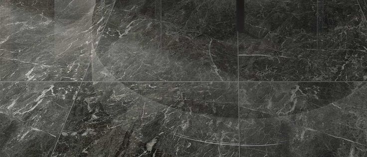 Marble look porcelain stoneware tiles: Anima porcelain tile serie in St. Laurent color #black #marble  #marbletiles #tiles #living #floor #porcelainstoneware #ceramichecaesar