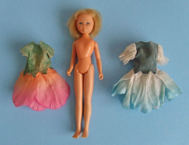 HORNBY FLOWER FAIRIES DOLL AND TWO DRESSES