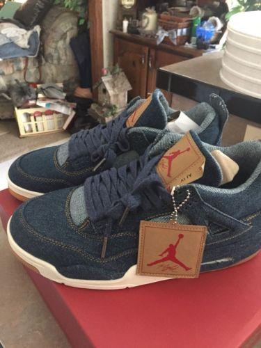 premium selection 1bf24 22faa Details about Nike Air Jordan 4 IV Retro LEVIS LEVI S NRG WHITE DENIM  A02571-100 Size 10 in 2018   Jordan   Pinterest   Jordans, Air jordans and Jordan  4