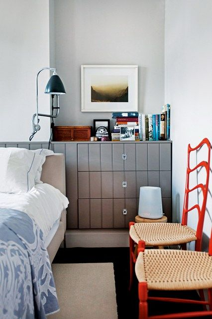 Built-in Chest of Drawers in Alcoves Interior Design & Storage Ideas. Small  bedroom