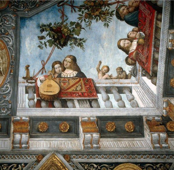 """Il cielo in una stanza: particolare dell'affresco della """"Sala del Tesoro"""" di Palazzo Costabili"""