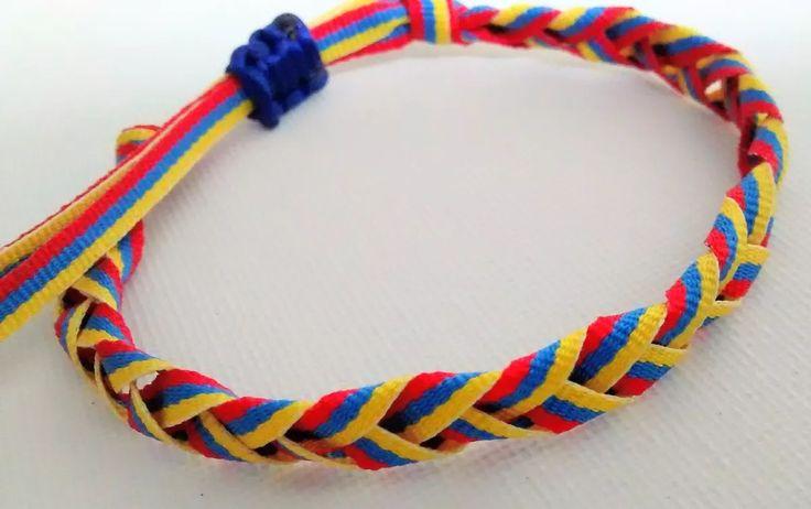 pulsera tricolor bandera venezuela cinta trenza moda
