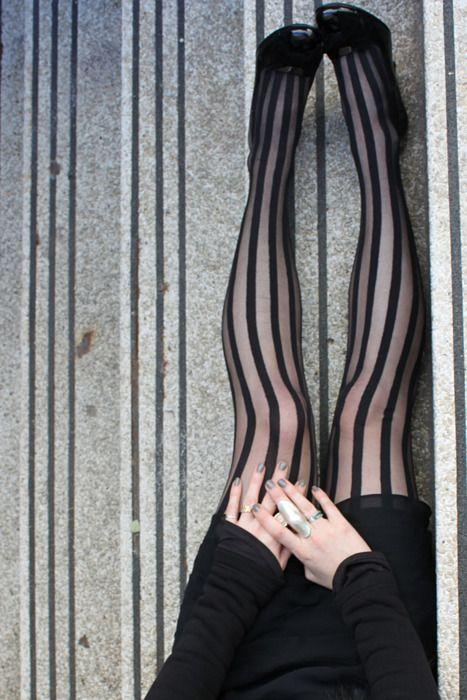 Striped tights.