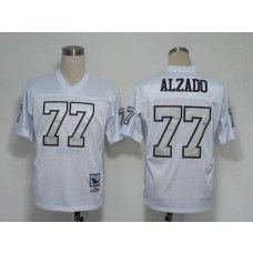 Mitchell And Ness Raiders #77 Lyle Alzado White Silver No. Stitched NFL Jersey