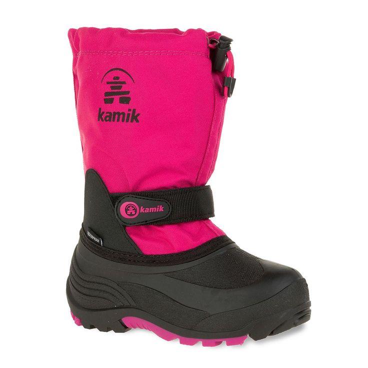 Kamik Waterbug5 Girls' Waterproof Winter Boots, Size: 3 Wide, Pink
