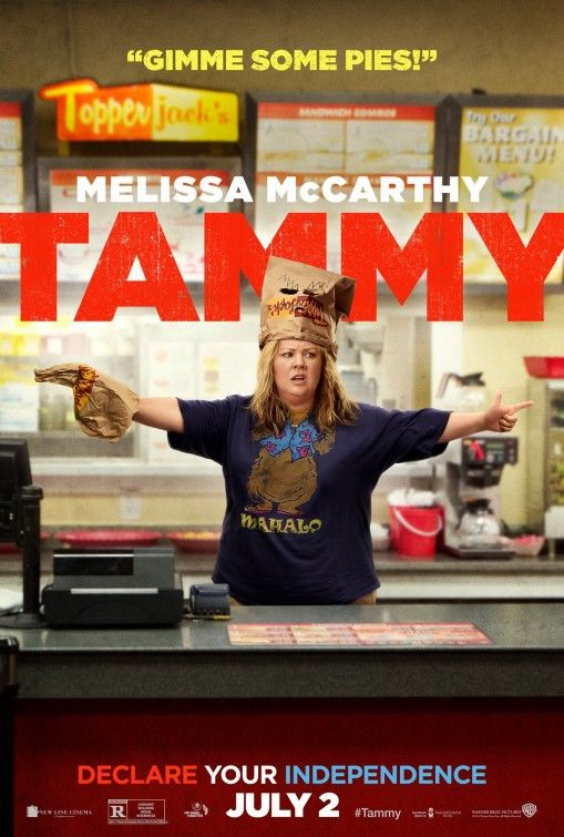 Tammy Movie Poster- We were hesitant about this since we read negative reviews- both my husband n I who often like movies a bit differently enjoyed this all the way!! We thought it was funny In a silly way- if you are in the mood for a light silly movie....