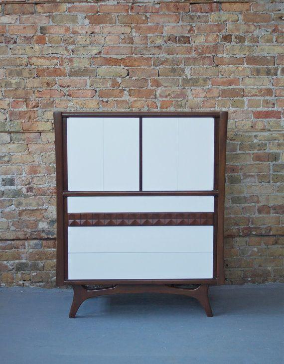 Best Mid Century Modern Painted White Tall Boy Dresser 400 x 300