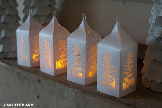 Cinco faroles navideños fáciles y muy creativos!