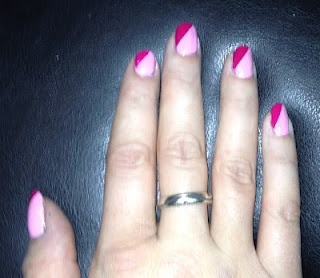 Two-Toned Pink: http://www.beautygeekuk.com/2012/02/notd-two-toned-pink.html