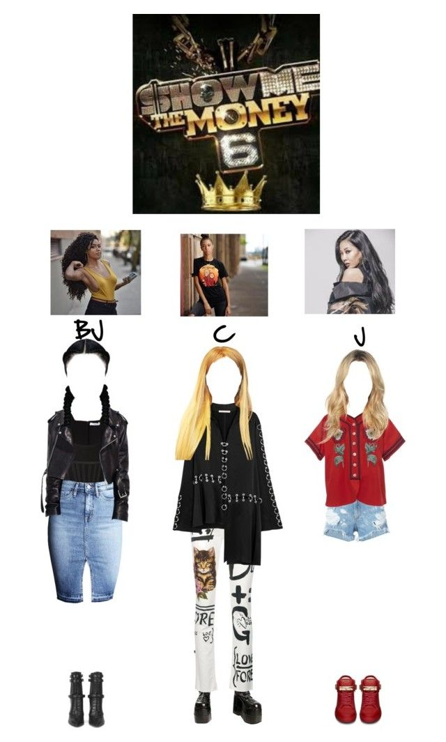 """Show me the money 6 ep 2:BrookJ,Cardi and Jessi Team"" by ygentertaiment ❤ liked on Polyvore featuring Givenchy, rag & bone/JEAN, Demonia, Dolce&Gabbana, Gucci, Christopher Kane, BOSS Hugo Boss and BUSCEMI"