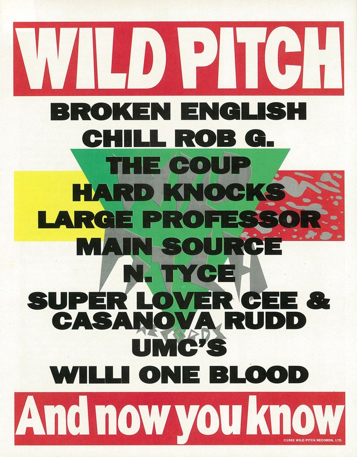 """wordtothemother: """" Wild Pitch Records. Advertisement. """""""