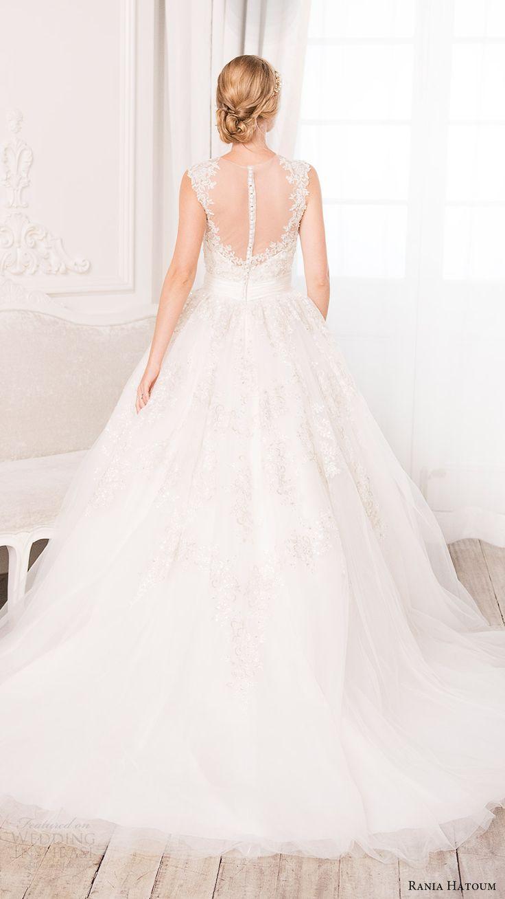 rania hatoum bridal spring 2017 sleeveless illusion jewel neck ball gown wedding dress (hazel) bv illusion back