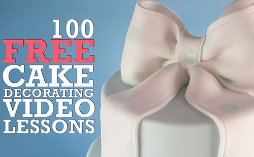 Free Online Cake Decorating Courses - 100 Video Courses - www.designer-cakes.com/free #cakedecorating #sugarcraft