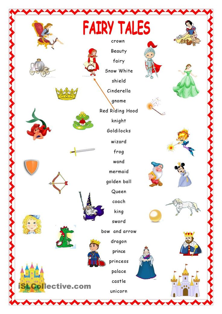 Fairy Tales.Matching. : PZ : Pinterest : Student-centered ...