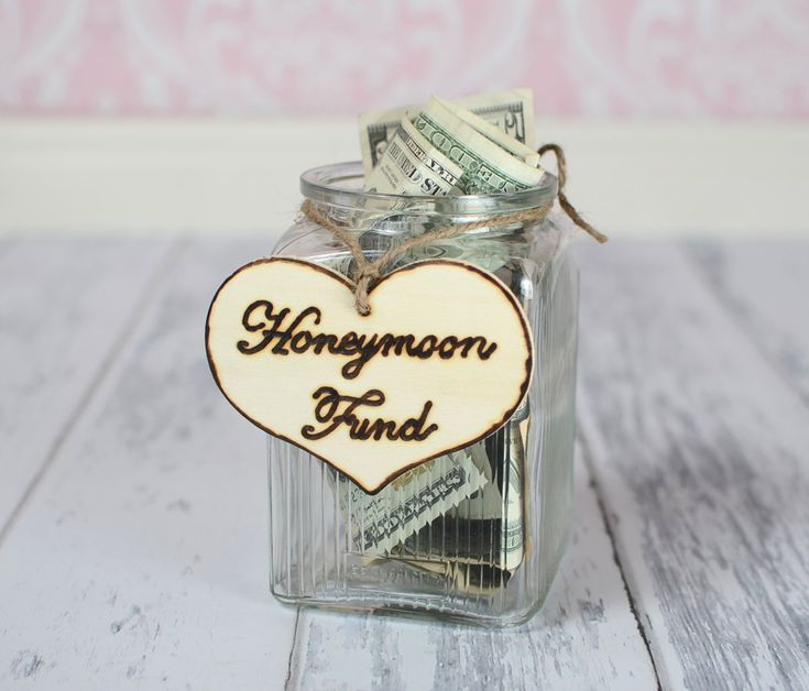 "Rustic Wedding ""Honeymoon Fund"" Sign  for Your Rustic, Country, Shabby Chic Wedding,  Bridal Shower, or Bachelor/Bachelorette Party. $6.95, via Etsy."