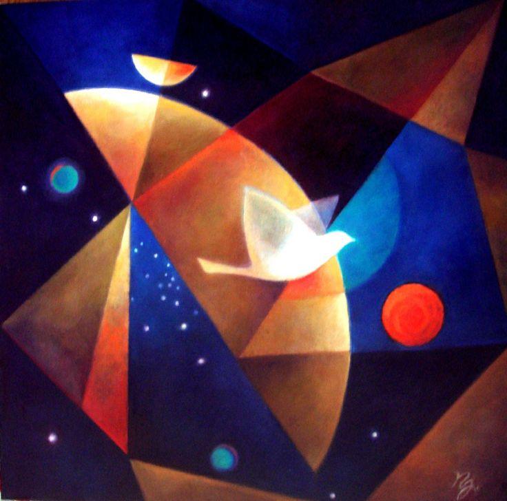 nightingale,,oil on canvas