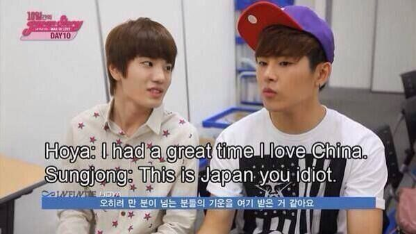 """""""You Idiot""""..lol this is why Hoya is one of my ultimate biases. No doubt he is lovable like this!"""