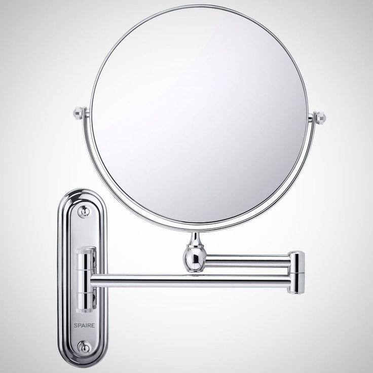 Extendable Bathroom Make Up Mirror 7X Magnifying Double Sided Wall Mount Swivel