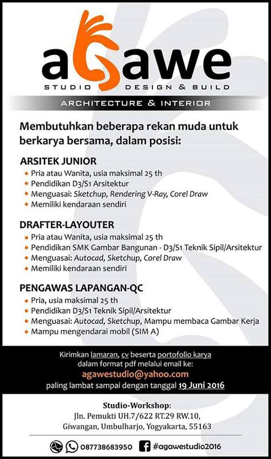 Lowongan arsitek yogyakarta juni 2016 ~ Teknologi Konstruksi Arsitektur