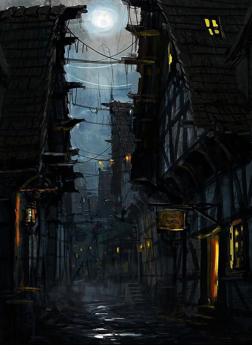 Village d'ombre: Love the atmosphere and environment as well as the depth of scene. Good stuff