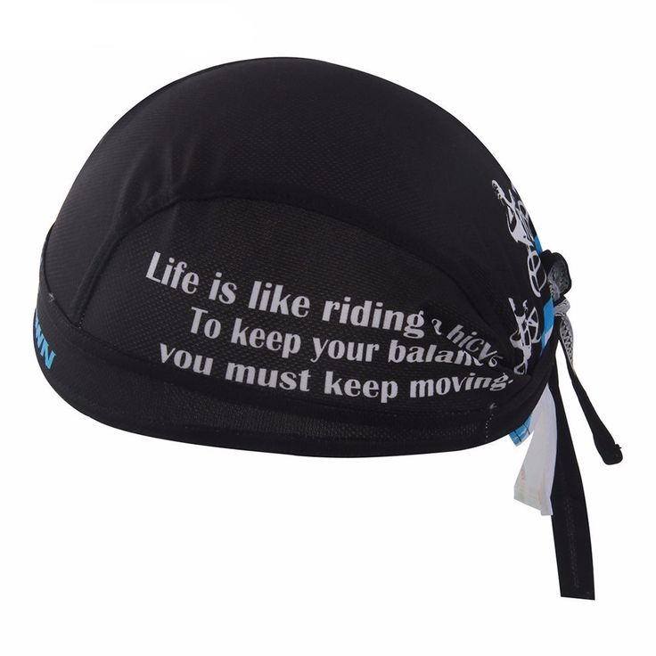 Keep Moving Black Cycling Bandana Cap