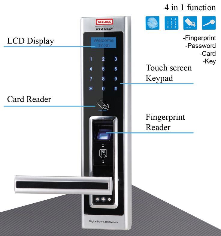 digital office door handle locks. #Fingerprint #DoorLock #door #keypad #Satin #chrome #handdoor #Electronic Digital Office Door Handle Locks I