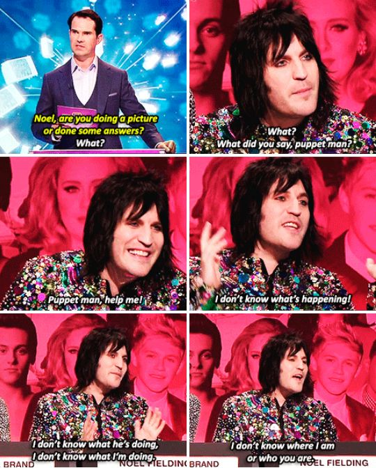 """And when Noel Fielding was completely baffled by the entire concept of the Big Fat Quiz. 
