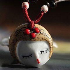 Более ста Юньнань этническом стиле ретро синие и белые керамические ожерелье ювелирные изделия Подарочные модели девушки мода