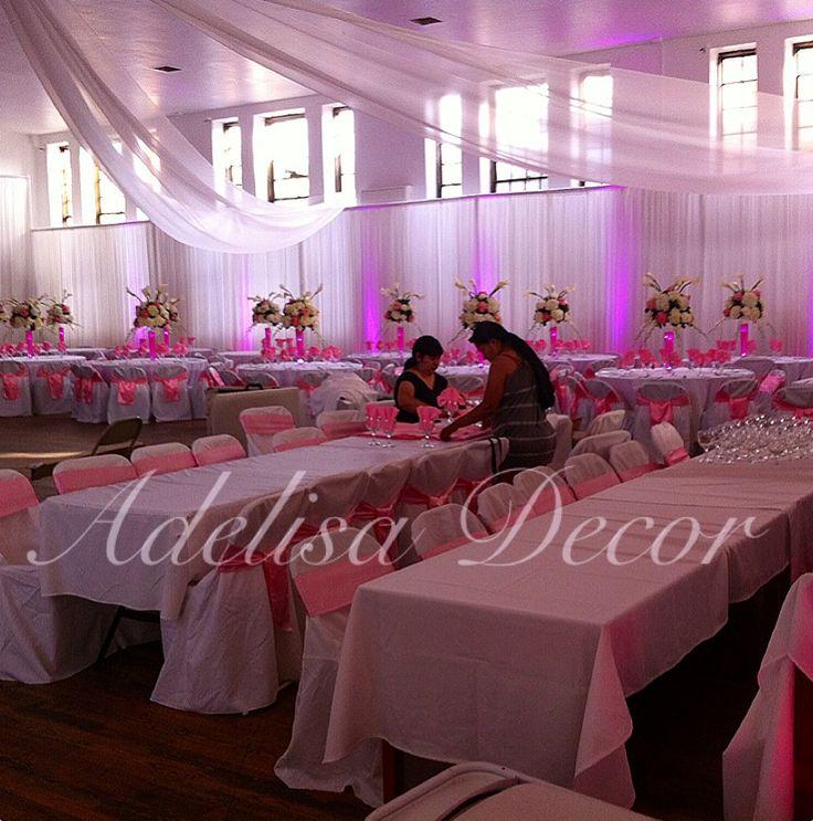 Elegant Reception Drapes Lighting by Adelisa Decor