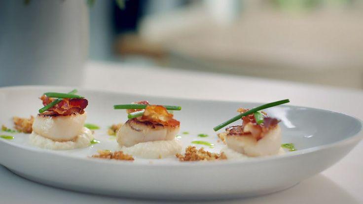Enkel och snygg rätt, med smaker av både hav och land.
