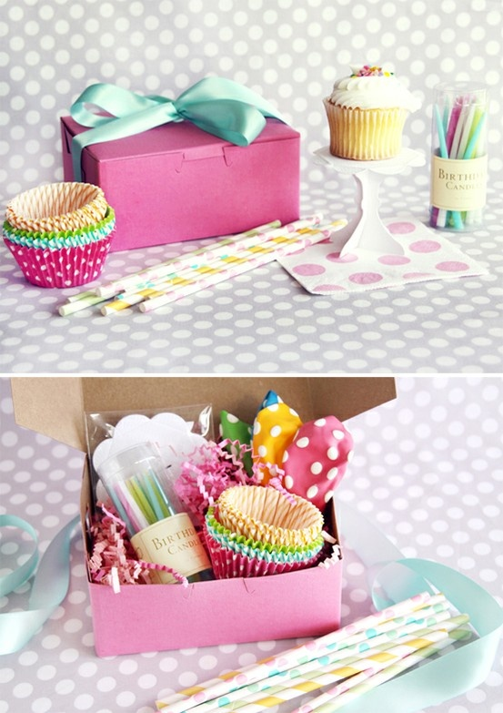 party in a box/cupcakes.  Perfect for my nieces in Arizona!!!