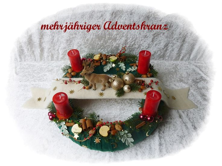 Adventskranz 45 cm! aus Floristenhänden mehrjährig von Die Geschenkidee auf DaWanda.com