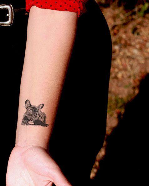 French Bulldog Temporary Tattoo  SomaArtTattoo door SomaArtTattoo