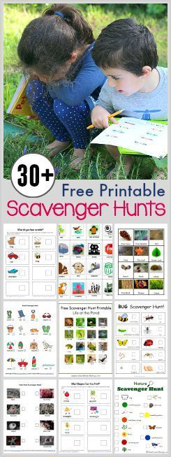 30 Free Printable Scavenger Hunts for Kids- Including games for traveling and outdoors, wildlife and nature, the five senses, and more! ~ BuggyandBuddy.com