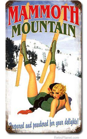 Mammoth Mountain Pin-Up Girl Sign