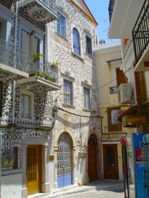 Christopher Columbus house in Pirgi, Chios, Greece