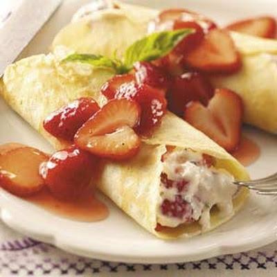Strawberry Mascarpone Crepes Recipe | Healthy Eating | Pinterest