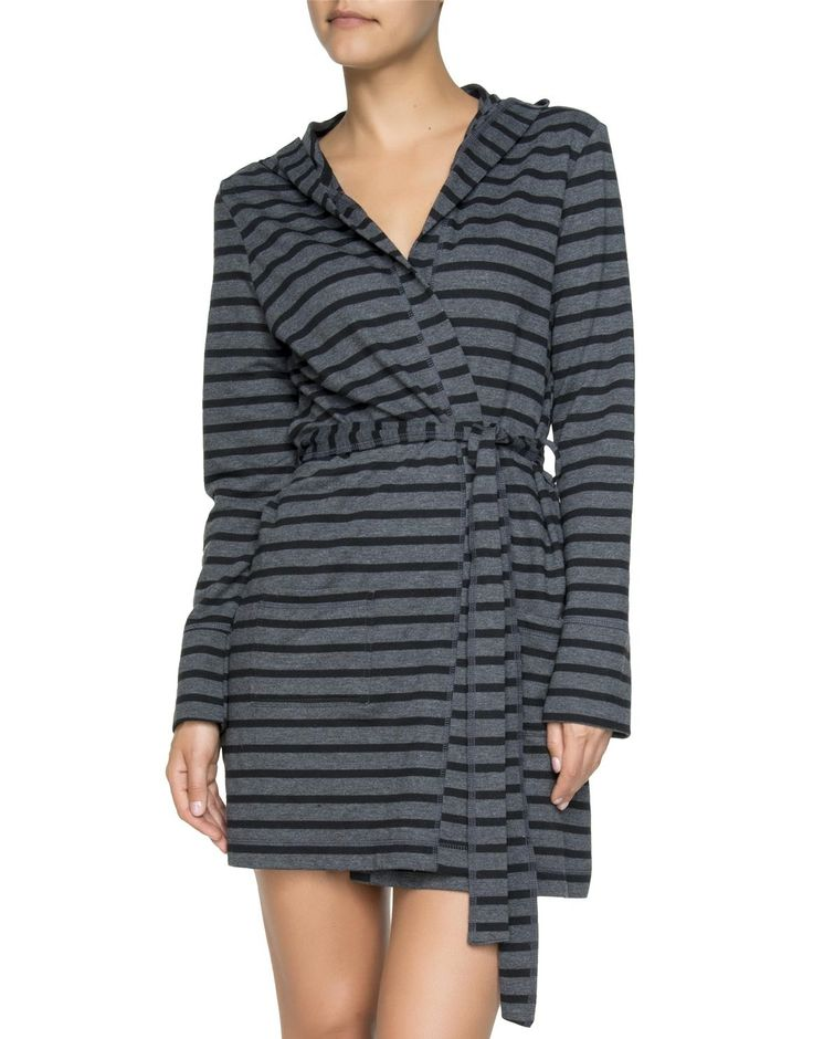 Striped Hooded Gown