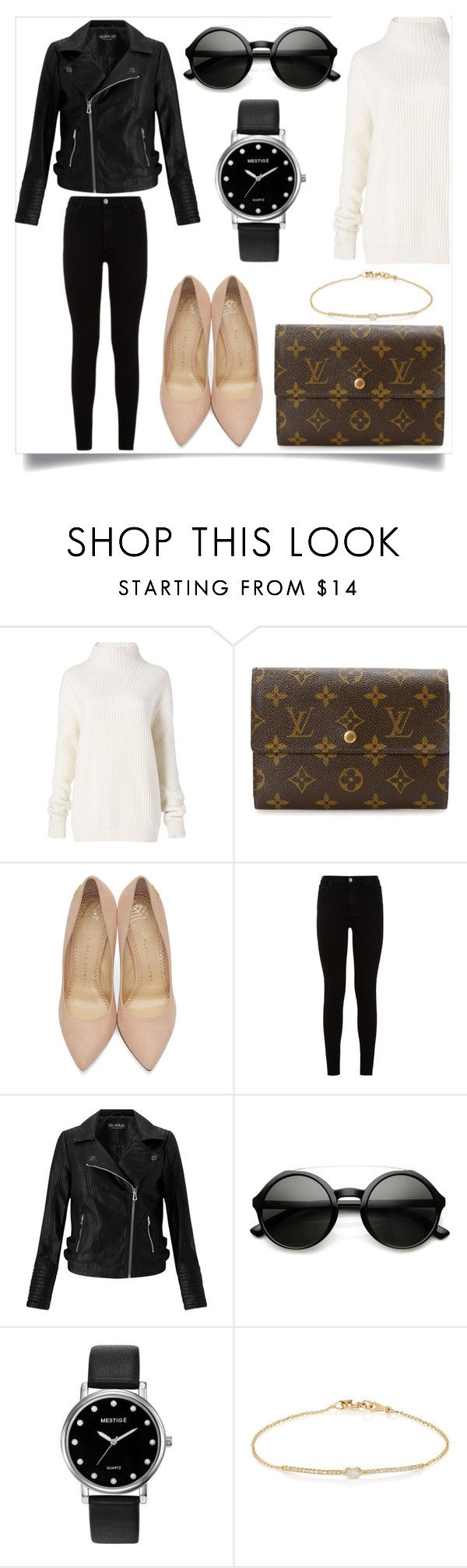 """""""Untitled #240"""" by voicu-ana ❤ liked on Polyvore featuring Diane Von Furstenberg, Louis Vuitton, Charlotte Olympia, 7 For All Mankind, Miss Selfridge, ZeroUV, Mestige and Tate"""