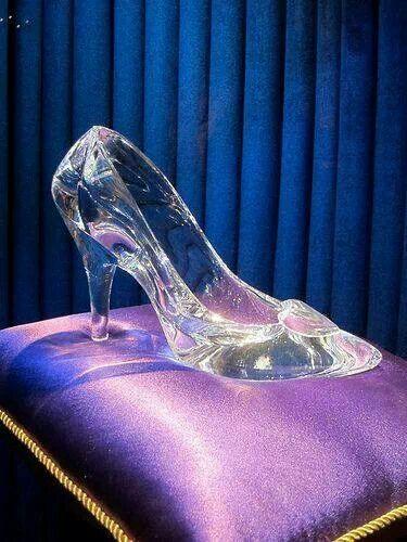 "Cinderella's glass slipper in Disney's ""Cinderella."""