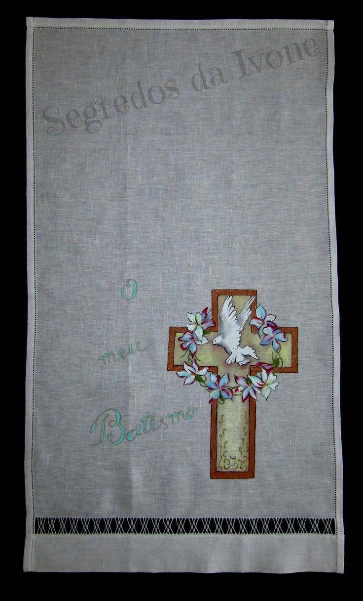 AB11- Pintura em toalha de batismo
