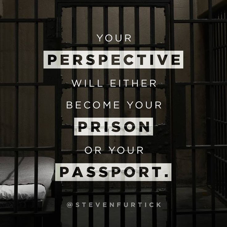 Your perspective will either become your prison or your passport.