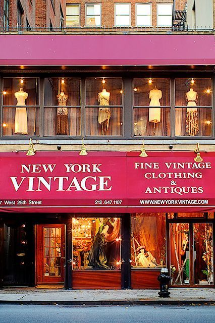 An Insider's Guide To Shopping Vintage In NYC #refinery29  http://www.refinery29.com/nyc-vintage-shops#slide12  New York Vintage The store's grand interiors and stunning vintage collection certainly do justice to its name. A stroll through the gorgeous space is basically a lesson in fashion history. New York Vintage, 117 West 25th Street (between Sixth and Seventh avenues); 212-647-1107.