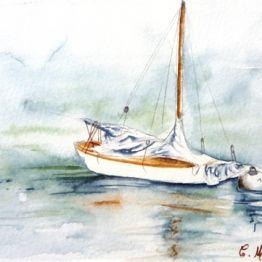 Aquarelle bord de mer. Vente d'aquarelles par l'aquarelliste Catherine MICHEL