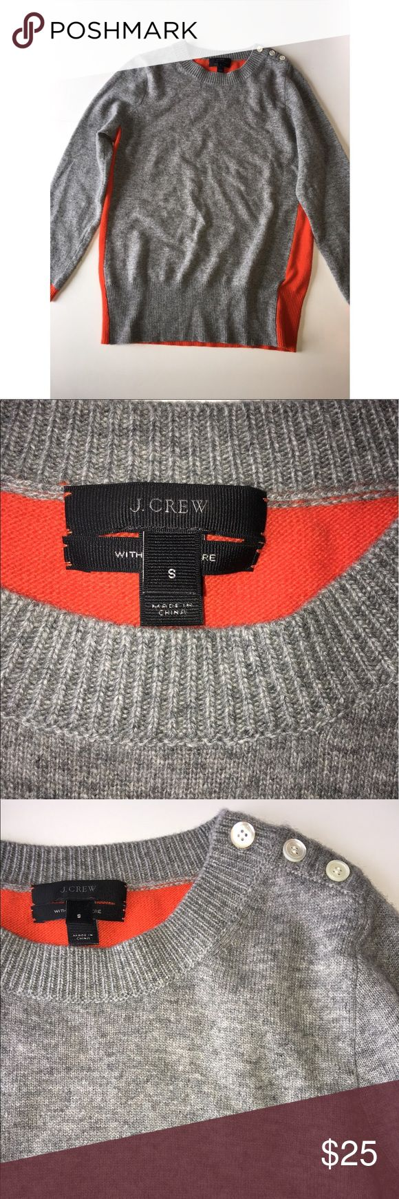 Women's J Crew  Elbow patch sweater. Size Small Women's J Crew  Elbow patch sweater in really good condition. Nice colors, and it's a lighter sweater so you won't be hot in it. Size Small J. Crew Sweaters Crew & Scoop Necks