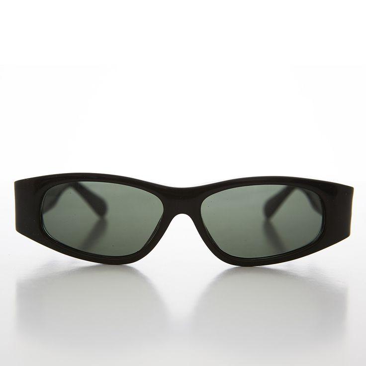 Classic Black Mod Beatnik Vintage Hipster Vintage Sunglasses NOS -CHICOS